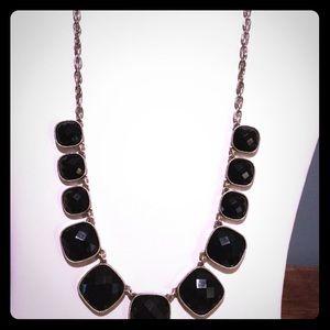 Reversible Black jet faceted necklace.